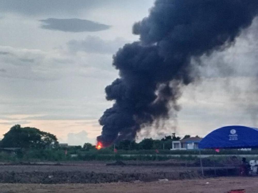 เพลิงไหม้โรงงานสารเคมี ลาดกระบัง1